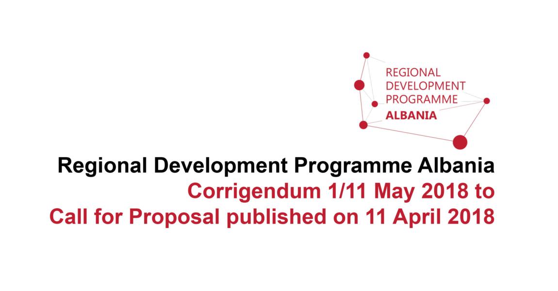 Corrigendum for the Call for Proposals published on 11 April 2018