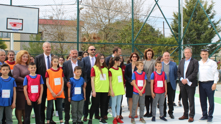 New multifunctional sport field for primary school in Shijak