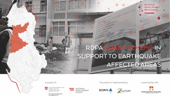 Call for applications for the RDPA Grant Scheme in support to the earthquake affected areas in Albania