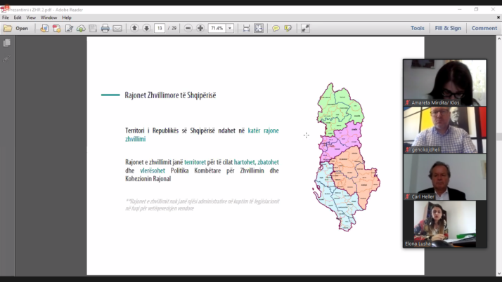 Virtual Discussion No 4 on the Draft Law on Regional Development and Cohesion – Municipalities of the Development Region Tirana – Durrës – Dibër