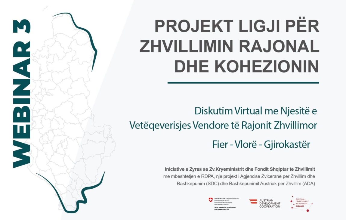Virtual Discussion No 3 on the Draft Law on Regional Development and Cohesion – Municipalities of the Development Region Fier – Vlora – Gjirokastra