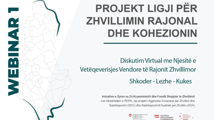 Virtual Discussion No 1 on the Draft Law on Regional Development and Cohesion – Municipalities of the Development Region Shkodra – Lezha – Kukes