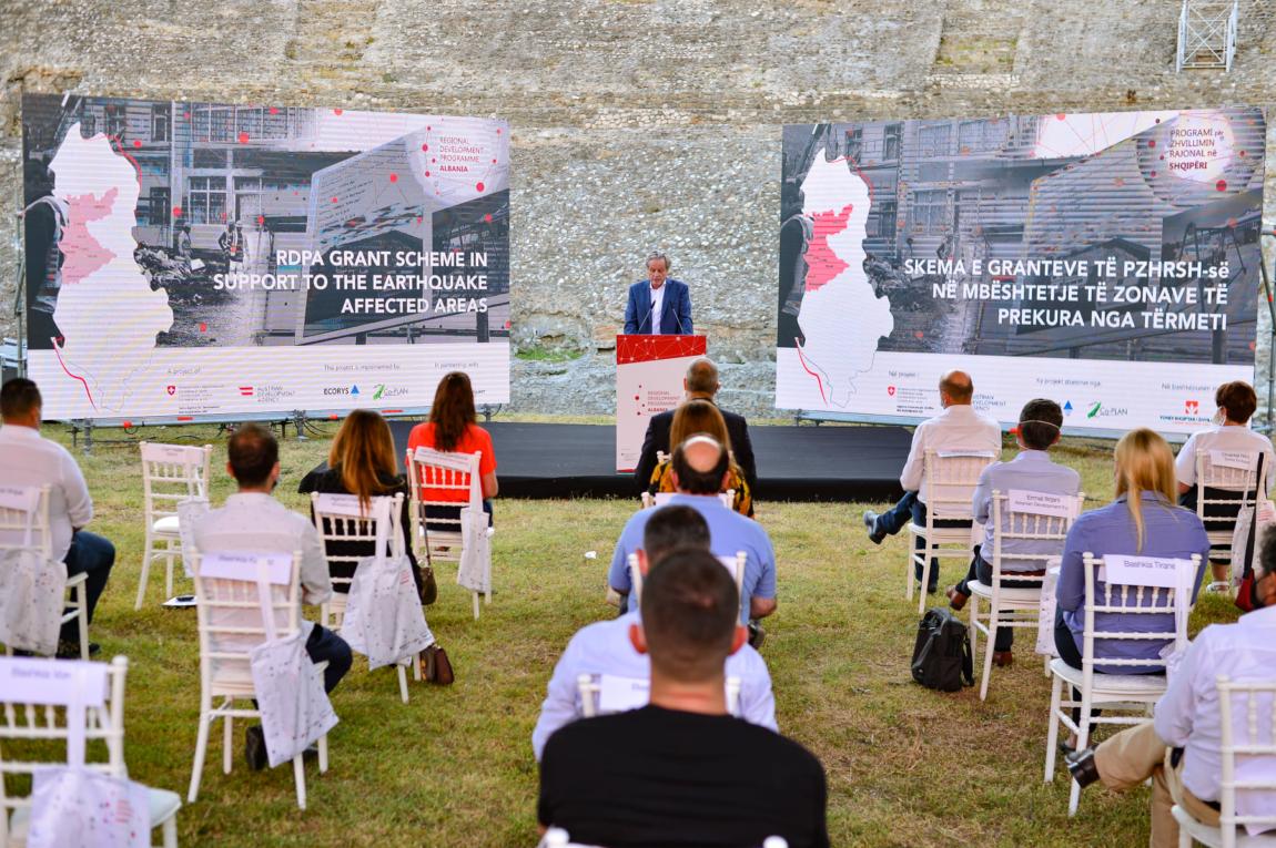 PZHRSH shpall të hapur Skemën e Granteve në mbështetje të zonave të prekura nga tërmeti, ne nje aktivitet të mbajtur në Amfiteatrin e Durrësit