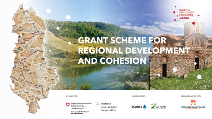 The Regional Development Programme Albania (RDPA), a project of SDC and ADA, in collaboration with the Albanian Development Fund (ADF), is publishing the second Grant Scheme which focus is on regional development and cohesion.